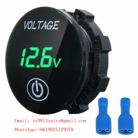 Buy cheap Mini Digital Voltmeter Panel Volt Voltage Meter Tester With Touch ON OFF Switch for Car Motorcycle Boat Marine Car Acces product