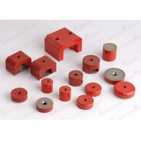 Buy cheap Alnico Pot Magnetic Assembly With Steel Cup Neodymium Mounting Red Painted product