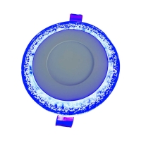 Buy cheap White +Blue colorful panels 3+3W Double Color Ceiling Round Indoor Led Panel Light product