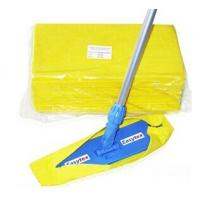 Buy cheap 240gsm Yellow Dry Floor Cleaning Wipes for Car or Industry with Viscose and polyester product