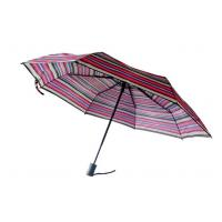 China Mini Rainbow Promotional Automatic Travel Umbrella Custom Stripe Printting on sale