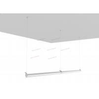 Buy cheap 120 Degrees 80Watts Linear Pendant Led Lighting 150W/M 12000LM from wholesalers