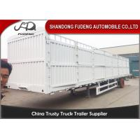 Buy cheap Enclosed Strong Box Semi Livestock Trailers / 30 - 50 Tons Tractor Cattle Trailer product