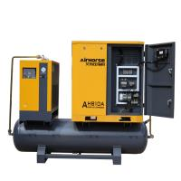 Buy cheap Air Cooling High Efficiency 10HP Screw Air Compressor with tank and dryer  Integrated Package product