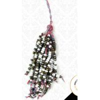 China Hot product wholesale home decorative curtain tieback tassel in stock, pom pom tassel with beads on sale