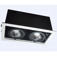 Buy cheap Adjustable Square LED Recessed Downlight Aluminum Alloy Double Head Trim 2 * 7W product