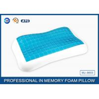 China Contour memory foam cooling gel pillow in Summer for relieving neck fatigue wholesale