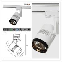 Horizontal rotation 350 mounting LED Track Lights with 3 circult track COB LED WHITE aluminum track light / T3A0006