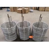 Buy cheap Immersion Coil Type Tube Heat Exchanger Seamless Stainless Steel Material product