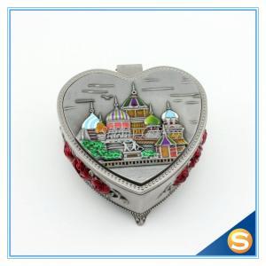 Buy cheap Boîte à bijoux en alliage de zinc en métal de Desgin de château avec le miroir product