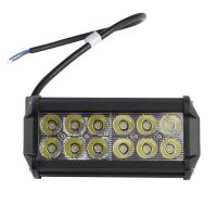 China 36W 12x 3W 3600LM IP65 Car 12-24V LED Light Bar as LED Work light Flood Light Spot Light led car wholesale