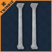 China Interior Decorative Natural Stone Marble Column With White Pillar on sale
