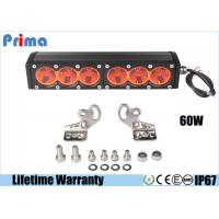 China 11.5inch 60W Amber Led Work Light Bar Spot Flood Rescue Vehicle Lights Driving Lamp For OffRoad on sale