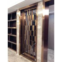 Buy cheap Metal screen golden color shinny reflective screen partition panel for wall dividers or door parititons product