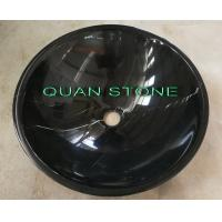 Buy cheap Natural Nero Countertop Sink Basin Marquina Marble Sink Black Wash Bowls Round Basins product