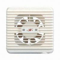 China Plastic Bathroom Exhaust Fan, Axial Flow, Wall Mounted, Made of Plastic, 220 to 240V Voltage, 15W on sale