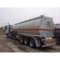 Buy cheap 45000 liters fuel Tanker Semi Trailer , 3 axle 50000 liters Oil Tanker Trailer , Truck Fuel Tanker trailer For Sale product