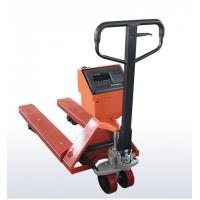 Buy cheap OEM Mild Steel Pallet Jack Weight Scale , Red Hand Pallet Truck With Scale product