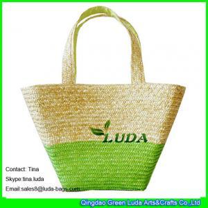 China LUDA Color Block 2016 New Designer Lady Wheat Straw Handbags on sale