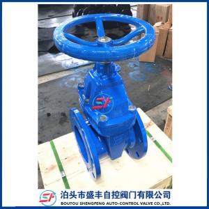 Válvula de porta de bronze resiliente do RUÍDO F4 da porca da boa qualidade do assento DN50 GGG50 do ferro fundido do tipo do shengfeng de China
