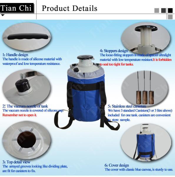 TianChi Liquid Nitrogen Container 35L Cryogenic Storage Tank Price