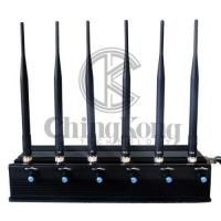 Buy cheap LOJACK Portable Cell Phone Jammer 6 Antennas Multi Bands Adjustable Power product