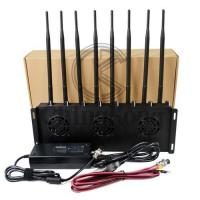 Buy cheap Mobile Office Cell Phone Signal Jammer , 3G 4G Cell Phone Signal Blocker Device 8 Antennas product