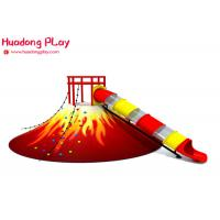 Buy cheap Volcano Slide Indoor Playground Equipment  , Food Grade Indoor Playground Furniture Plastic Nontoxic product
