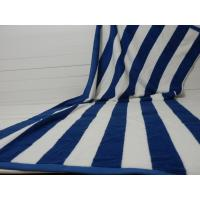 China Factory Supply 100% cotton Yarn Dyed Jacquard Heavy Blue Stripe Pool Towel on sale