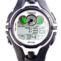 Buy cheap Black Digital Chronograph Waterproof Watches Ohsen For Diving product