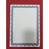 A4 Blue Border Blank Certificate Paper / Custom Certificate Paper For Printing