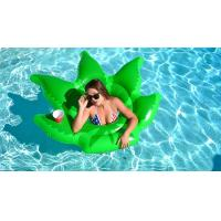 Buy cheap Float On Weed Leaf Inflatable Pool Floats Envirnomental PVC Pool Party Toys 64*64