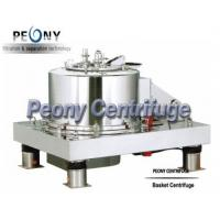 Buy cheap Stainless Steel Pharmacy plate Filtration Equipment , Food Hinger Cover Top Discharge Basket Centrifuge product
