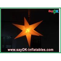 China Wedding Party Inflatable Lighting Star 2m Diameter Nylon Cloth on sale