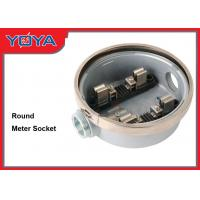 Buy cheap Outdoor Round Meter Socket Base 120 / 240V , Stainless Steel Sealing Ring product