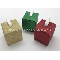 Buy cheap Red Silver Gold Xmas Gift Boxes Tiny / Huge Decorative Hanging String Included product