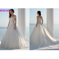 Buy cheap Cap Sleeve Off-Shoulder Court Train robe de soiree New Arrival Bridal Ball Gowns product