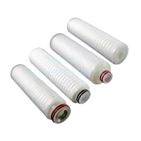 Buy cheap 0.22 0.1 Micron Filter Cartridge 20'' PES Pleated Filter Element product