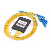 Buy cheap ABS Box Type PLC Fiber Optic Splitter 1x8 with SC / UPC Connectors , FTTH PON Splitter from wholesalers