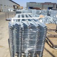 Buy cheap Iron Tube Metal Fence Posts Hot Dipped Galvanizing Fence Panel 150mm Wing Width product