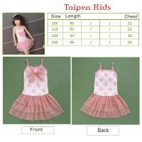 China Sleeveless Anti - Piling Fabric Cute Baby Girls Siamese dress and skirt, 0-24M / 2-8Y on sale
