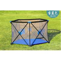 Buy cheap Fabric Mesh Large Playpens For Babies / Collapsible Baby Fence Play Area product