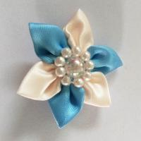 Buy cheap Multi Style Satin Ribbon Flowers Garment Craft Handmade Flowers For Women Clothes Decoration product