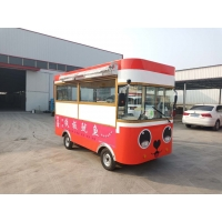 Buy cheap Four-Wheel Snack Car Mobile Food Cart customized according to customer needs multimedia support one spare tire product