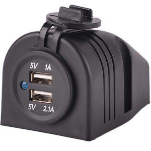 Buy cheap DC 12V 24V black USB socket charger with black tent housing product