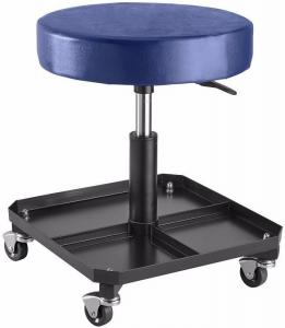Buy cheap Adjustable Pneumatic 300 Lb Rolling Work Seat With Tool Tray product