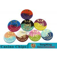 Crystal Acrylic Casino Poker Chips , Mesh Bronzing Silkscreen Custom Casino Chips