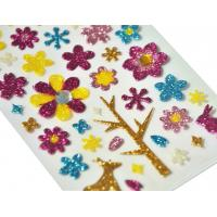 Spring Season Flower And Animal Shimmer Jewel Stickers Handwork Glitter Colorful