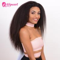 Buy cheap Yaki Straight Long Lace Front Wigs Human Hair , Black Remy Lace Front Wigs product