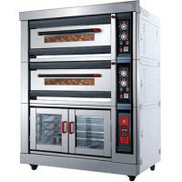 Buy cheap Custom 3.7KW Deck Commercial Gas Pizza Oven Stainless Steel Material product